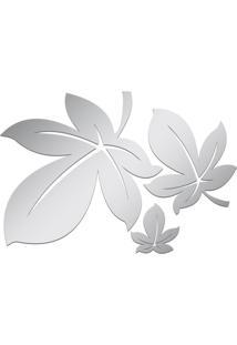 Espelho Decorativo Acrilize Folhas Prata