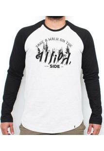 Take A Walk On The Wild Side - Camiseta Raglan Manga Longa Masculina