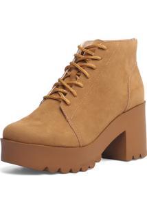 Ankle Boot Bárbara Krás Tratorada Caramelo