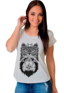 Camiseta Shop225 Tribal Coruja Branco