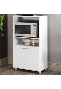 Armário De Cozinha Multiuso Para Forno E Micro 2 Portas Branco - Multimóveis
