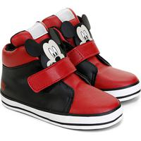 31d3fbade83 Netshoes. Tênis Cano Alto Infantil Disney Velcro Mickey ...