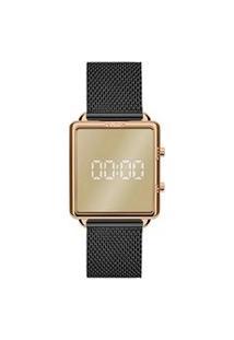 Relógio Euro Feminino Preto Digital Eujhs31Baj4P