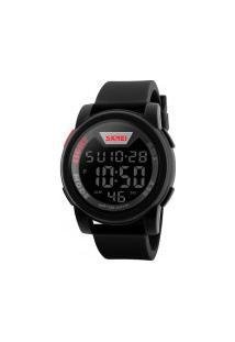 Relógio Skmei Digital -1218- Preto E Vermelho