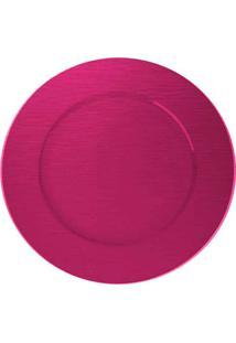 Sousplat Redondo Dynasty 33 Cm Rosa Full Fit