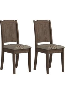 Conjunto 2 Cadeiras Bárbara Cimol Marrocos/Café