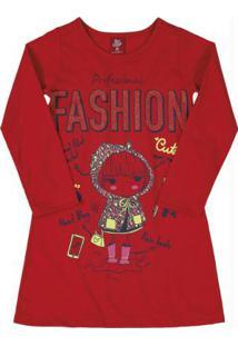 Vestido De Inverno Infantil Vermelho