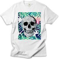 f05fa325b6b31 Camiseta Surf Cool Tees Caveira Tropical Shakespeare - Masculino-Branco