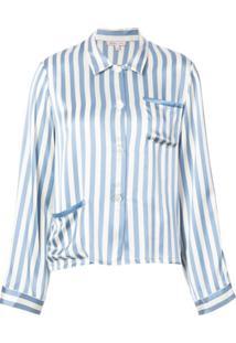 Morgan Lane Pijama Ruthie Periwinkle - Branco