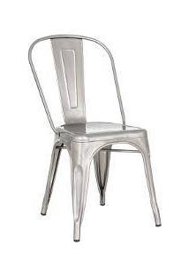 Cadeira Iron Tolix - Industrial - Metal - Vintage - Metal Natural Galvanizado