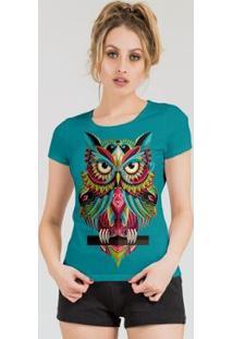 Camiseta Stompy Feminina Estampada 13 - Feminino-Azul