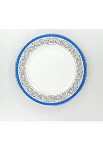 Conjunto De Pratos Rasos Porcelana Schmidt 06 Peças - Dec. Júlia