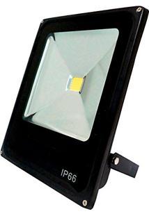 Refletor Led Slim 10W Branco Frio Uso Externo