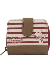 Carteira Snoopy Sp1721 Vermelha