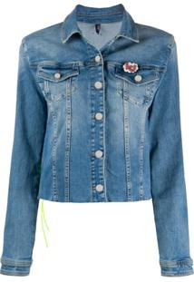 Liu Jo Jaqueta Jeans Cropped - Azul