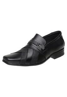Sapato Vossavest Social Tradicional Couro Preto 3061