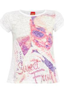 Camiseta Kyly Sweet Fruit Off-White