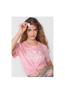 Camiseta Colcci Delete Rosa