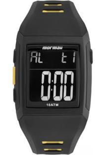 Relógio Mormaii Digital Action Mo967Aa8P Preto/Amarelo - Unissex-Preto+Amarelo