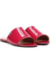 Rasteira Dumond Slide Verniz - Feminino-Pink