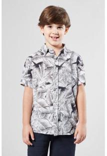 Camisa Infantil Mini Pf Bananal Mono Mc Reserva Masculina - Masculino-Branco