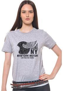 Camiseta Feminina Joss - Bronx Ny - Feminino-Mescla