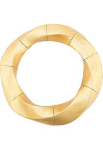 Monies Colar Estruturado Com Recortes - Dourado