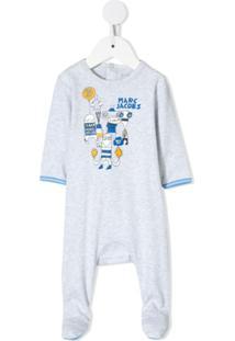 Little Marc Jacobs Pijama Com Estampa - Cinza