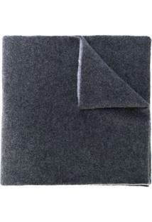 Dell'Oglio Cachecol De Cashmere Bicolor - Cinza