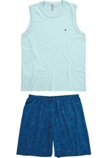 Pijama Azul Adulto Masculino