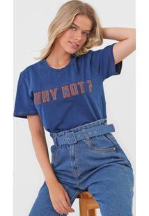 Camiseta Zinco Bordada Azul