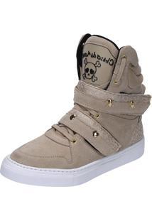 Sneaker Fitness Cheia De Marra 1001 Bege - Kanui