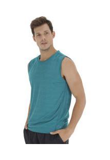 Camiseta Regata Oxer Textura Sublimada - Masculina - Azul Mescla