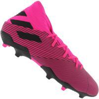 chuteira adidas rosa e preta