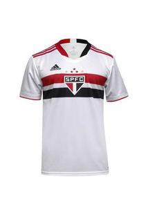 Camisa Adidas Sáo Paulo I 21/22 S/N° Torcedor Masculina Gk9828, Cor: Branco/Vermelho, Tamanho: Gg