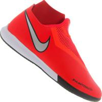 aee9b01d9d Centauro. Chuteira Futsal Nike Phantom Vivsn Academy Df Ic - Adulto -  Vermelho Prata