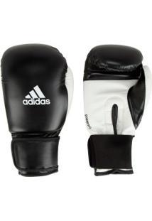 Luvas De Boxe Adidas Power 100 Smu Colors - 14 Oz - Adulto - Preto/Branco