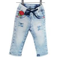 58673a3f8 Calça Jeans Infantil Feminina 8807 Pequena Mania Multicolorido