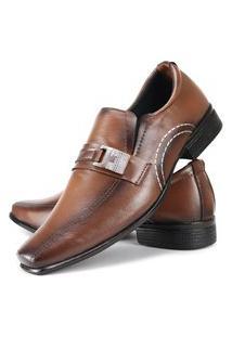 Sapato Social Masculino La Faire Fivela Fosco Caramelo