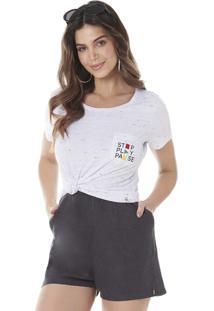 Camiseta Com Bordado Localizado Serinah Brand Botonê