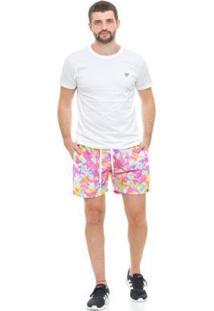 Bermuda De Praia Tactel D'Affari Tie Dye Masculina - Masculino