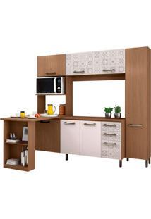 Cozinha Compacta Penélope 7 Pt 3 Gv Nature E Branca