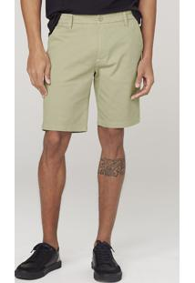 Bermuda Masculina Com Elastano - Verde