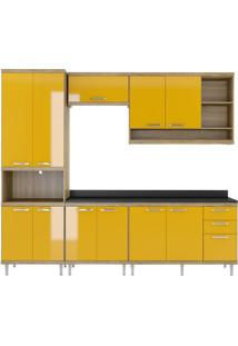 Cozinha Compacta Multimóveis Sicília 5809.132.695.610 Argila Amarelo Se