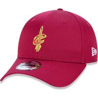Boné New Era 940 Snapback Cleveland Cavaliers Vermelho Escuro 2142e4032f3