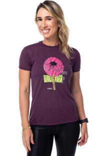 Camisetas Funfit Camiseta Feminina Funfit - Protea Vinho Vinho