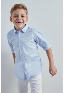 Camisa Mini Pf Tec Lago Reserva Mini Masculina - Masculino-Azul Claro