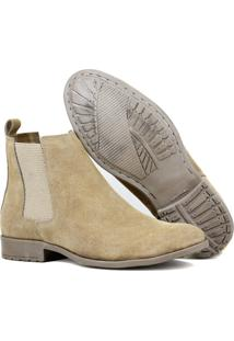 Bota Chelsea Boots Lancamento Sir.W 777 Bege Em Couro