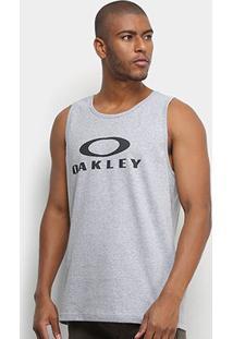 Regata Oakley Bark Masculina - Masculino-Cinza