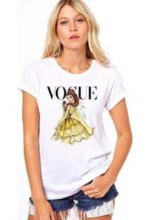 Camiseta Coolest Bella Vogue Feminina - Feminino-Branco